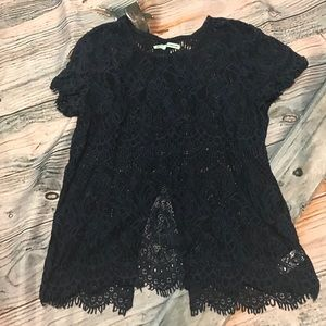 Maurice's lace open back top